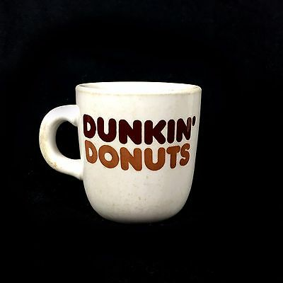 Vtg 70s 80s DUNKIN DONUTS Stoneware Coffee Cup Mug Mayer China Co 480 USA Made