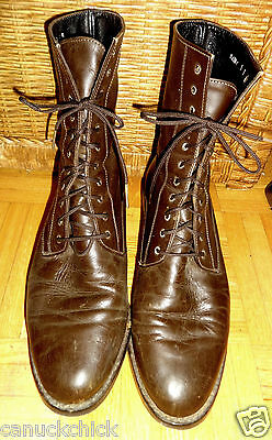 KARL LAGERFELD Womens 9B $800 LEATHER ANKLE BOOTS BROWN Made in FRANCE EUC