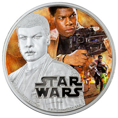 2016 Niue $2 1 oz Colorized Proof Silver Star Wars Force Awakens - Finn SKU42745