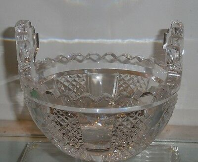 Spectacular Signed Waterford Master Cut Crystal Butter Cooler Bowl  Hibernia