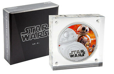 2016 Niue $2 1 oz Colorized Proof Silver Star Wars Force Awakens - BB-8 SKU42761
