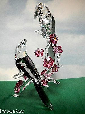 Loving Magpies - Tutelary Spirit Crystal Line 2013 Swarovski Birds #5004639