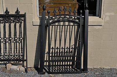 Garden Gate Pedestrian or Entry Model Iron with 2 Posts Pineapple Finials