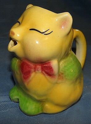 Vtg Shawnee Pottery #85 Yellow Puss N Boots Cat Creamer Cream Pitcher EXCELLENT!