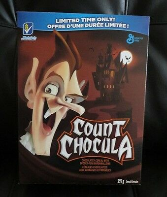 2014  COUNT CHOCULA Cereal Box  LIMITED HALLOWEEN  EDITION FULL BOX FREE PIN !