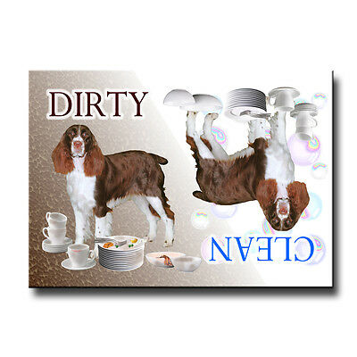 ENGLISH SPRINGER Clean Dirty DISHWASHER MAGNET No 2