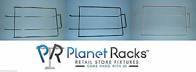 25 - Planet Racks Slatwall Wire Cap Displayers - Holds 9 Hats - White