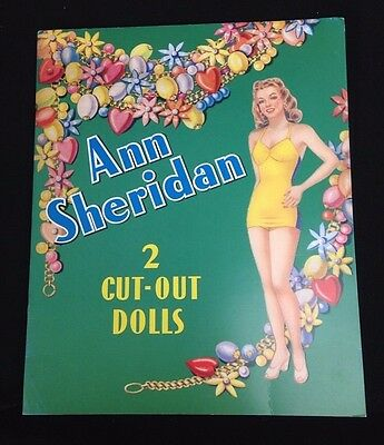 1998 Reproduction Ann Sheridan Movie Star 2 Cut-Out Paper Dolls Uncut