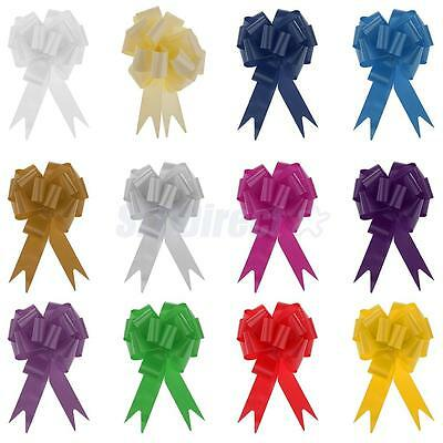30mm Pull Bows Wedding Car Pew ends Table Gift Craft Decoration Lot of 10