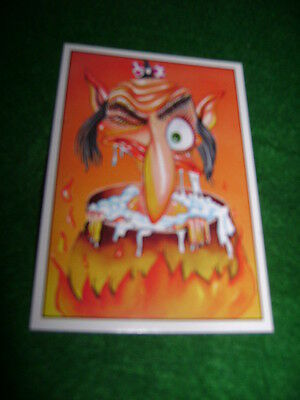 The Slimies Wacky Funny Cartoon Sticker #72 Ugly Man Being Boiled In Witch Pot