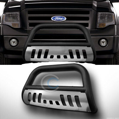 *SALE Matte Black Stainless Skid FRONT BUMPER BULL BAR GUARD 2004-2008 Ford F150