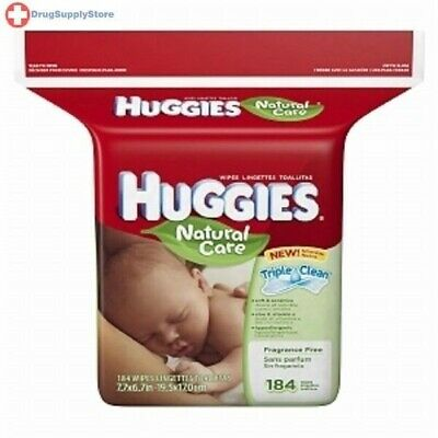 Huggies Wipe Natural Care Refill Fragrance Free 184ct