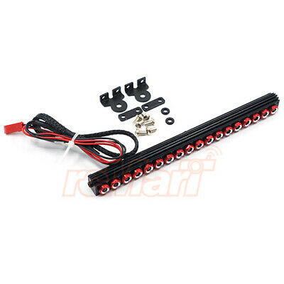 Yeah Racing 1:10 Aluminum White LED Light Bar Red 4WD RC Cars Crawler #YA-0507RD