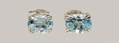 2 Antique 19thC 1ct Topaz Ancient Persian Magic Amulet Gemstones Sterling Studs