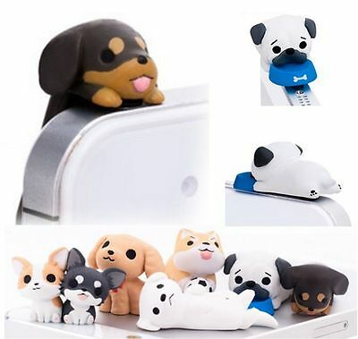 1PC Pug Dog Universal Dust Plug Cap Mobile Phone Tablet Charm Puppy Pugs Case