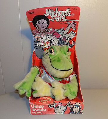 Michael's Pets Uncle Tookie The Frog Jackson plush toy in box 1987