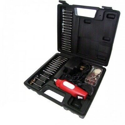 165Pc Mini Rotary Hobby Drill + Sanding Grinding Buffing  Bits + Case
