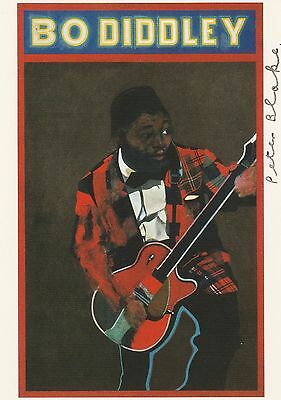"Peter Blake ""Bo Diddley"" England - original Autogramm - Autograph - signed"