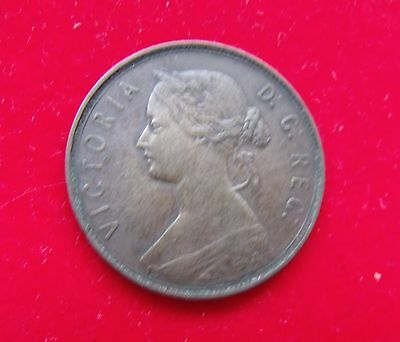 1880 New Foundland Canadian One Cent Canada Victoria good condition