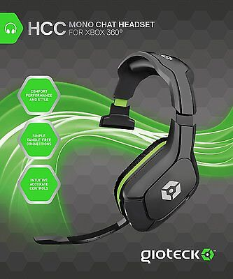 xBox 360 Gioteck HCC Mono Gaming Chat Headset Headphones (also Xbox One & PC)
