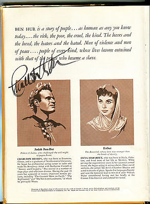 CHARLTON HESTON - The Story of the Making of BEN-HUR (Book) - SIGNED
