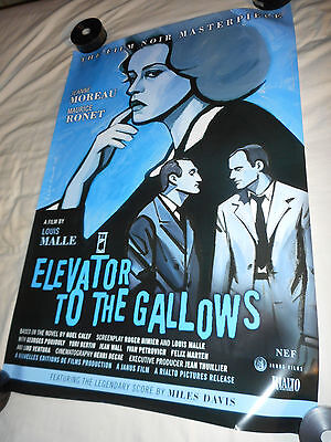 ELEVATOR TO THE GALLOWS orig U.S. movie poster one sheet 27x40 single-sided 2016