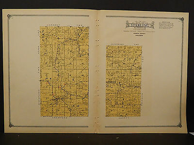 Wisconsin, Vernon County Map, 1915 Township of Sterling O2#54
