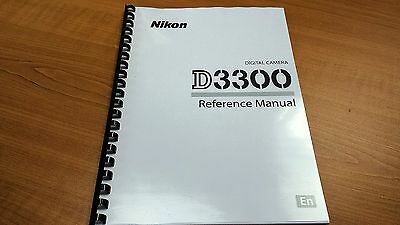 Nikon Digital Slr D3300 Camera Printed Manual User Guide 392 Pages A5