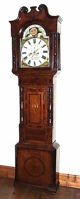 Antique Rolling Moon Grandfather Longcase Clock Willman & Co Wolverhampton