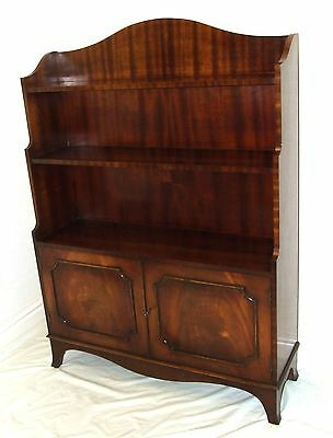 REPRODUX Bevan Funnell Mahogany Waterfall Bookcase & Cupboard / Storage
