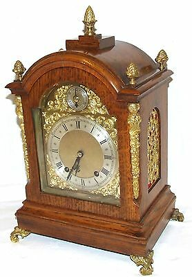 Antique Oak & Ormolu TING TANG Bracket Mantel Clock : Winterhalder W & H (a61)