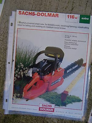 Sachs Dolmar 116si Universal Chain Saw Color Promo MORE TOOL ITEMS IN STORE   V