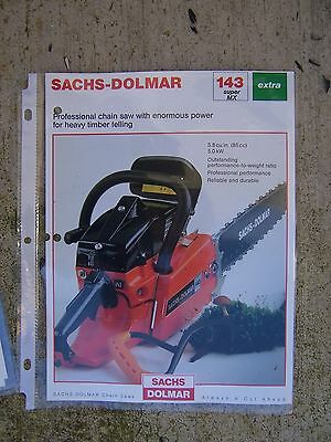 Sachs Dolmar 143 Super MX Universal Chain Saw Color Promo Timber Power Tool   V