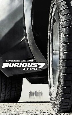 """Furious Seven 2015 Action Film Movie 30/""""x14/"""" Poster 020 Fast /& Furious 7"""