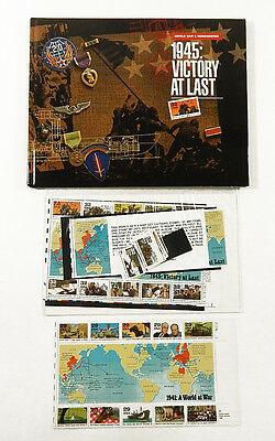 1995 US Postal WWII Remembered 1945: Victory At Last HC Book & Stamp Set