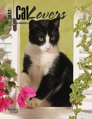 Cat Lovers 2017 WEEKLY ENGAGEMENT CALENDAR/PLANNER Browntrout cats
