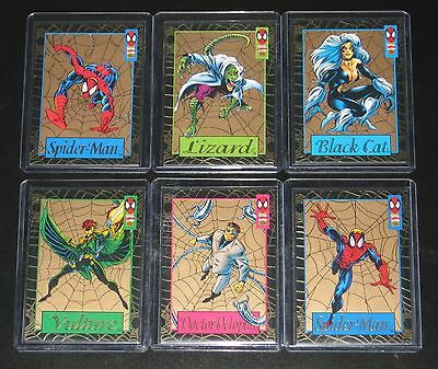 1994 Amazing Spider-Man GOLD WEB Insert Set of 6 Cards NM/M (Wal-Mart Pack Excl)
