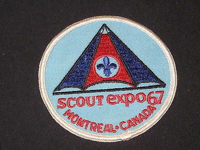 Expo '67 Montreal Canada Scout patch   cjp  fx
