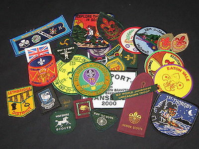 Great Britian Boy Scout patches, lot of 32   cjp  fx