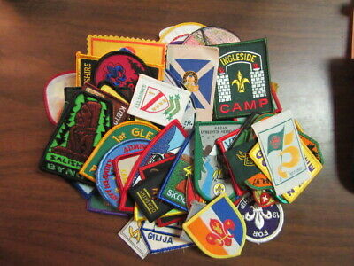 Worldwide Boy Scout patches, lot of 80 plus   cjp  fx