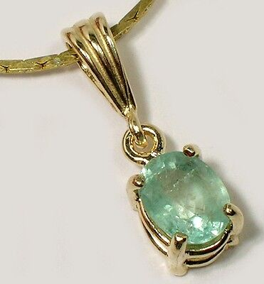 19thC Antique 1ct Siberia Emerald King Arthur Holy Grail Charlemagne Solid 14k