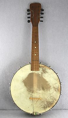 "Estate Old Banjo 8 String + Original Case In As Found Condition 23"" Unbranded"