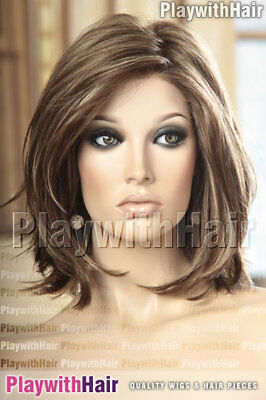 Flippy Lengths Lace Front Wig Brown Blonde Mix Mono Top : Jon Renau - Alia