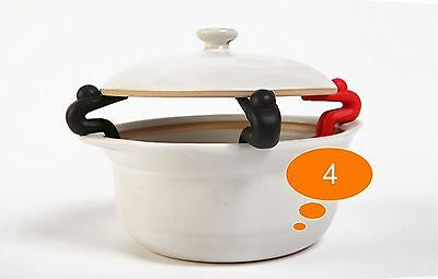 2 pcs Creative Small People Shaped Lid Insert Candy Color Rubber Cookware