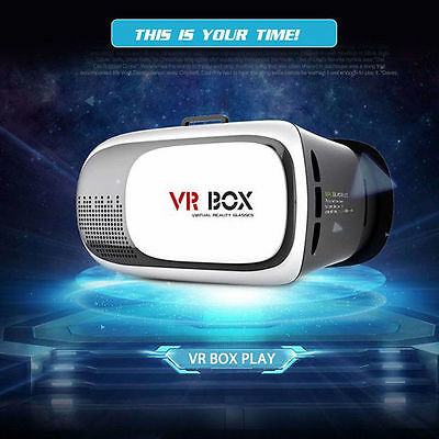 VR BOX Virtual Reality 3D Glasses Head-mounted Stereo Visio For Mobile Phone