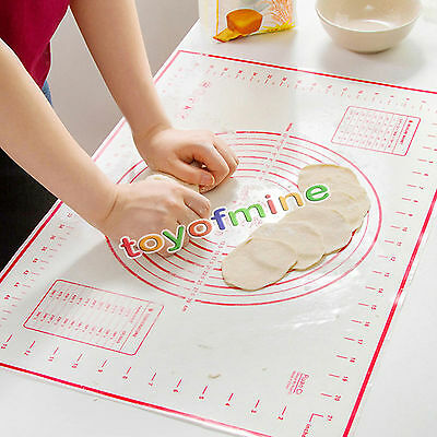 Hot Fiberglass Silicone Dough Rolling Baking Mat Pastry Clay Pad Sheet Liner FC