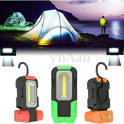 COB LED Work Inspection Lamp Camping Tent Light Magnetic Flashlight Torch Hook