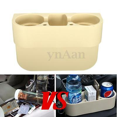Truck Car Seat Can Drink Food Water Bottle 2 Cup Holder Universal Phone Mount