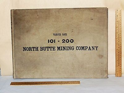 1905 NORTH BUTTE MINING COMPANY - Ledger Book - Hand-Written - TRANSFER PAGES