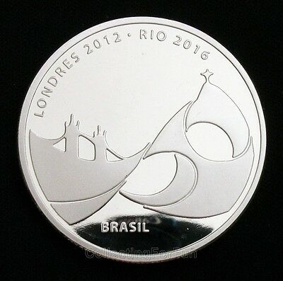 London 2012 ~ Rio 2016 Handover Olympic Flag Silver Coin Token
